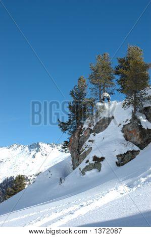 Snowboard Big Jump