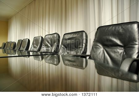 Chairs In The Empty Confernce Room