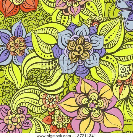 Bright floral illustration