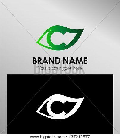 Leaf icon Logo Design Concepts. Letter C