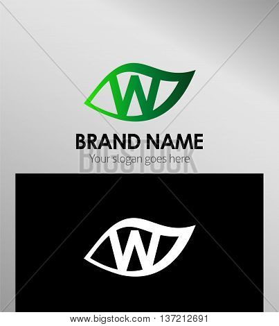 Letter w logo icon template design vector