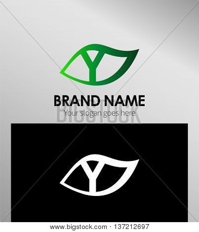 Letter y logo icon template design vector