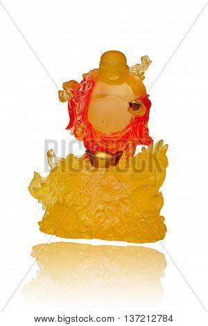 Gautama Buddha or Katyayana or Kasennen on white background.