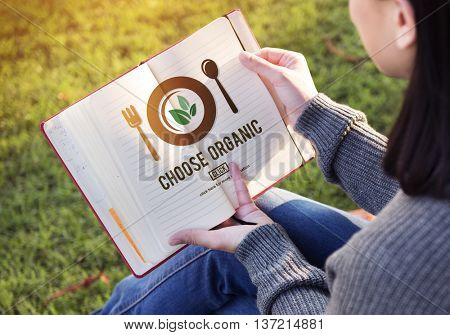 Choose Organic Healthy Eating Food Lifestyles Concept