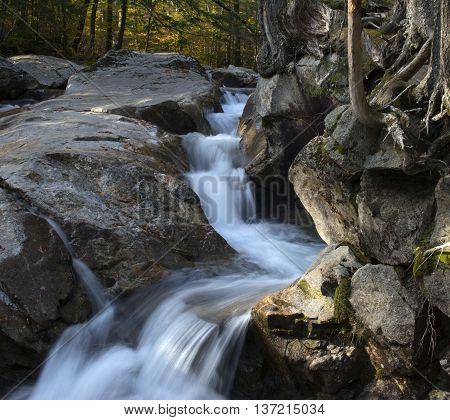 Waterfall in Franconia Notch State Park, NewHampshire.