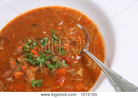 Minestrone & Bacon Soup