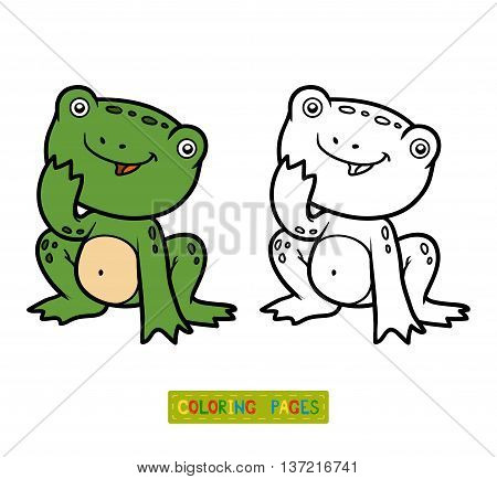 Coloring Book For Children, Little Frog