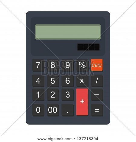 Colorful calculator icon, vector illustration flat graphic design.