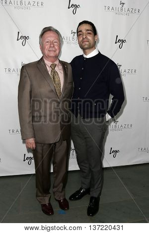 NEW YORK-JUN 25: Walter Naegle (L) and his partner attend Logo TV's