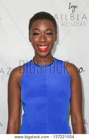 NEW YORK-JUN 25: Actress Samira Wiley attends Logo TV's