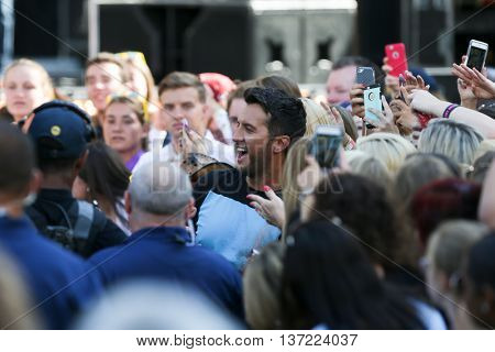 NEW YORK-AUG 7: Country music singer Luke Bryan performs at ABC's Good Morning America Summer Concert Series at Rumsey Playfield on August 7, 2015 in New York City.