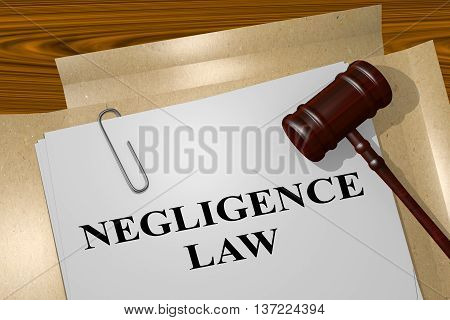 Negligence Law Legal Concept