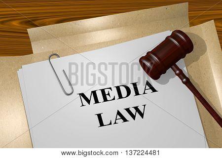 Media Law Legal Concept