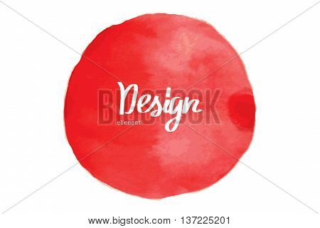 Red Watercolor Circle Background.