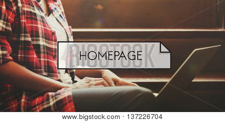 Homepage Web Site Domain Concept
