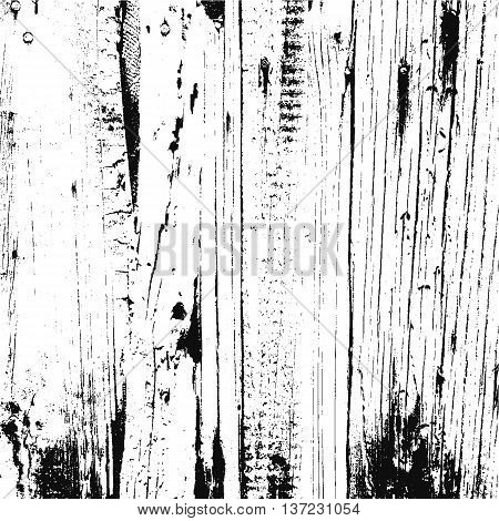 Distressed overlay damaged wooden fence grunge texture grunge background. abstract halftone vector illustration.