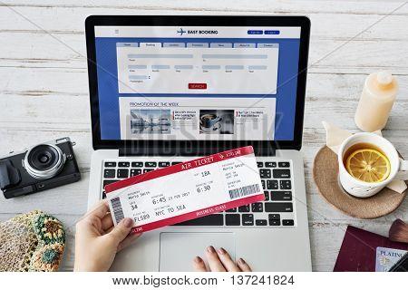 Ticket Bookking Trip Departure Journey Concept