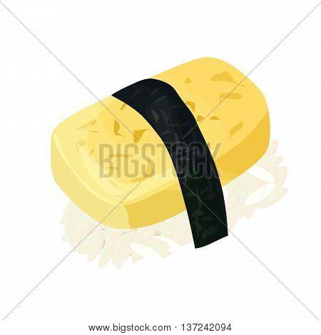 tamago, sushi, isolated on white background, vector illustration