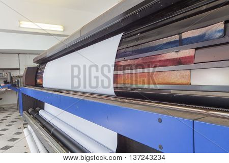 professional printing machine in printing house, intrior
