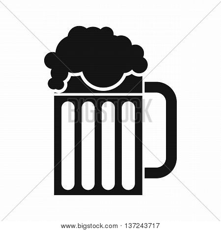 Beer mug icon in simple style isolated vector illustration. Drinks symbol