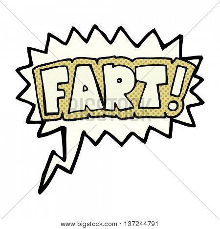 freehand drawn comic book speech bubble cartoon fart symbol