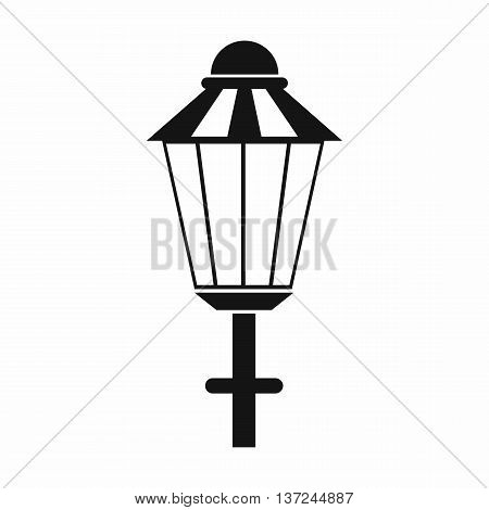 Street lamp icon in simple style isolated vector illustration. Light symbol