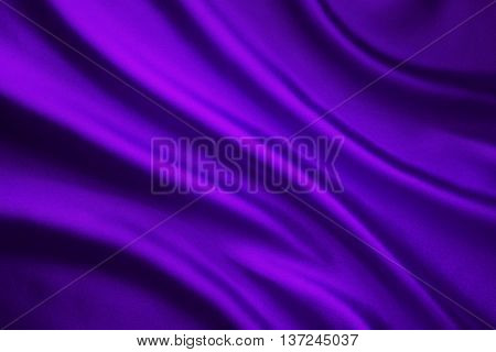 Silk Fabric Wave Background Abstract Purple Satin Cloth Texture