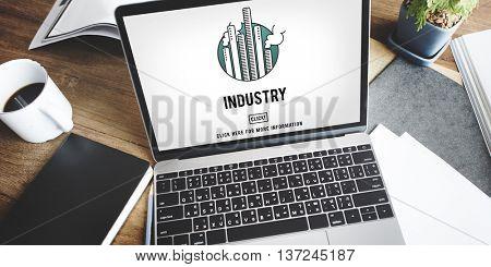 Industry Buildings General Business Enterprise Concept