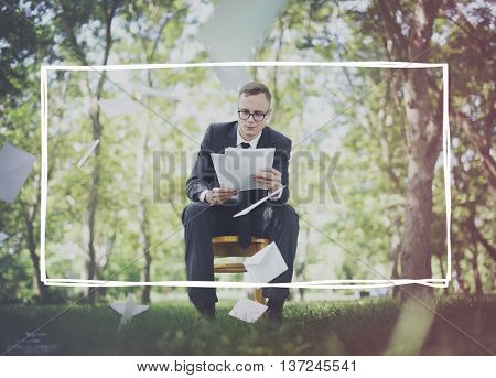 Business Formal People Frame Grapahic Concept