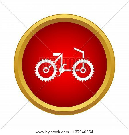 Bike icon in simple style on a white background