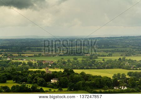 View Over A Church In The Chilterns, Buckinghamshire
