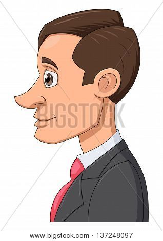 Illustration of the smiling yang businessman in a suit