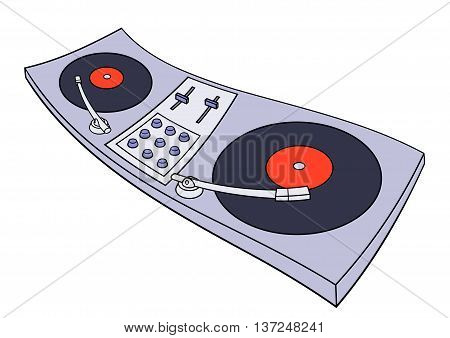 Illustration of the turntable on white background