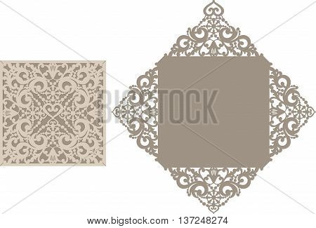 Laser Cut Envelope Template For Invitation Wedding Card4.eps