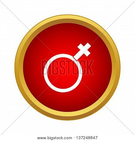 Woman gender sign icon in simple style on a white background