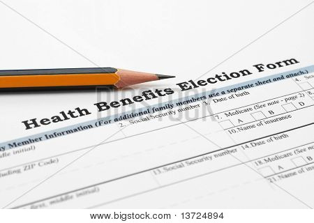 Health benefit election form