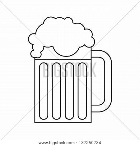 Beer mug icon in outline style isolated vector illustration. Drinks symbol
