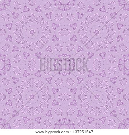 Abstract geometric plain background. Seamless circles ornament in violet shades in quiet colors.