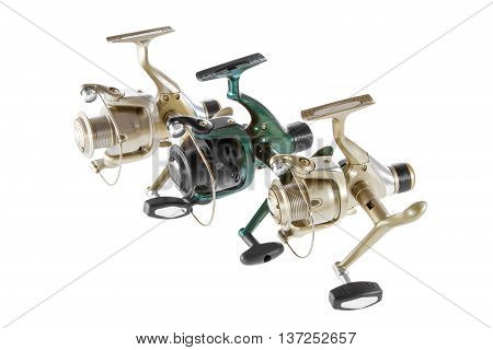 Image isolated object on a white background fishing reel