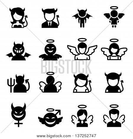 Devil & Angel icon vector illustration graphic design