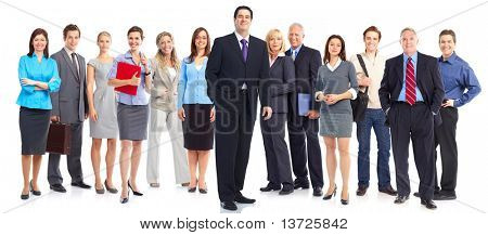 Gruppe von Geschäftsleuten. Business-Team. Isolated over white background