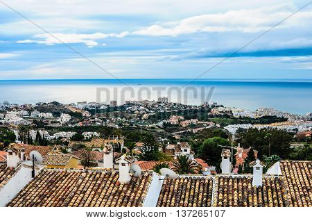 Benalmadena Panoramic View, Costa Del Sol, Andalusia, Spain