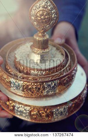 Mandala offering to the Buddhist Gods and Dakinis