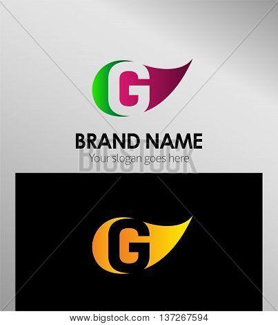 Letter G logo  template design element vector