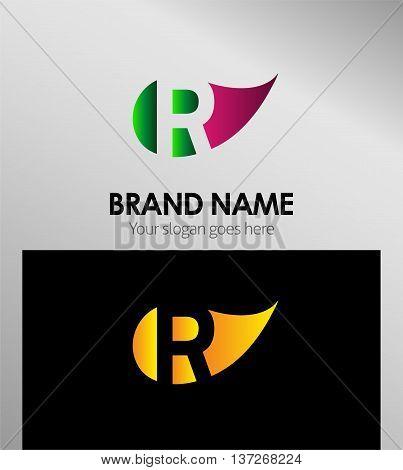R letter Eco logo R letter Eco logo