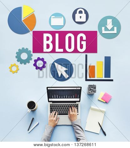Blog Blogging Media Messaging Social Network Media Concept