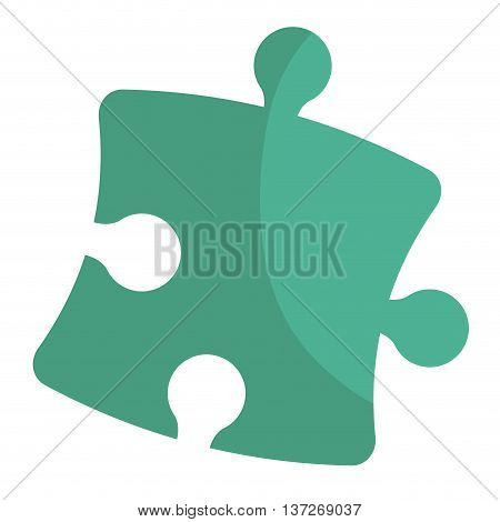 Puzzle piece isolated icon, teamwork concep design vector illustration.