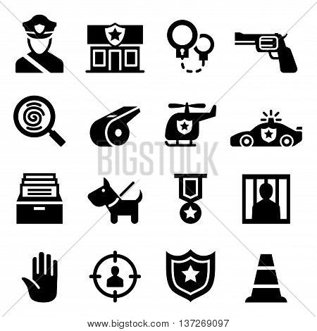 Police icon set vector illustration graphic design