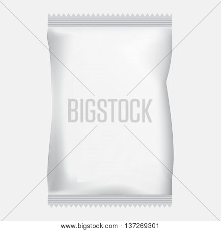 packaging for chips isolated on white background blank form for design