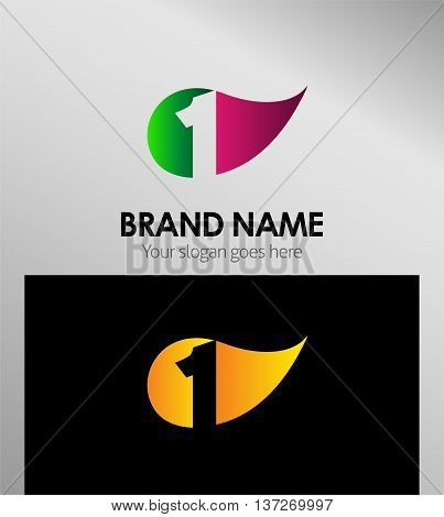 Vector sign Eco number one logo template design vector